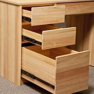 University Loft Student Desk Full Extension Drawer Glides