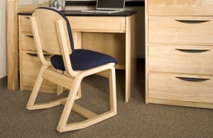 University Loft's Two-Position Chair Keeps College Students in the Comfort Zone