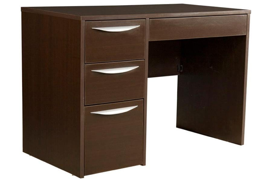 Greenfield Pedestal Desk in Midnight Espresso