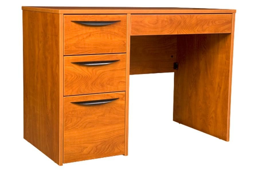 Greenfield Pedestal Desk in Wild Cherry