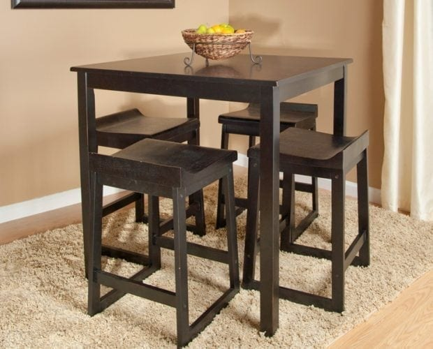 Black Bar Height Dining Table