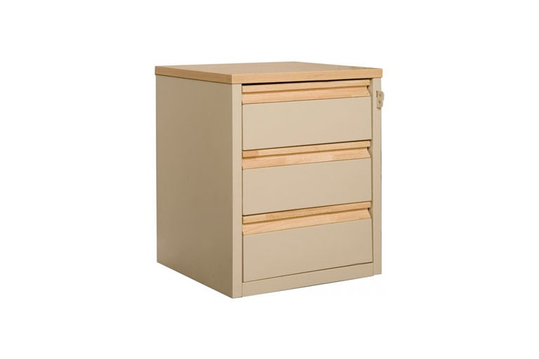 Metal Series 3 Drawer Nightstand