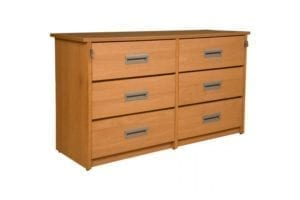Solid Wood 6 Drawer Chest