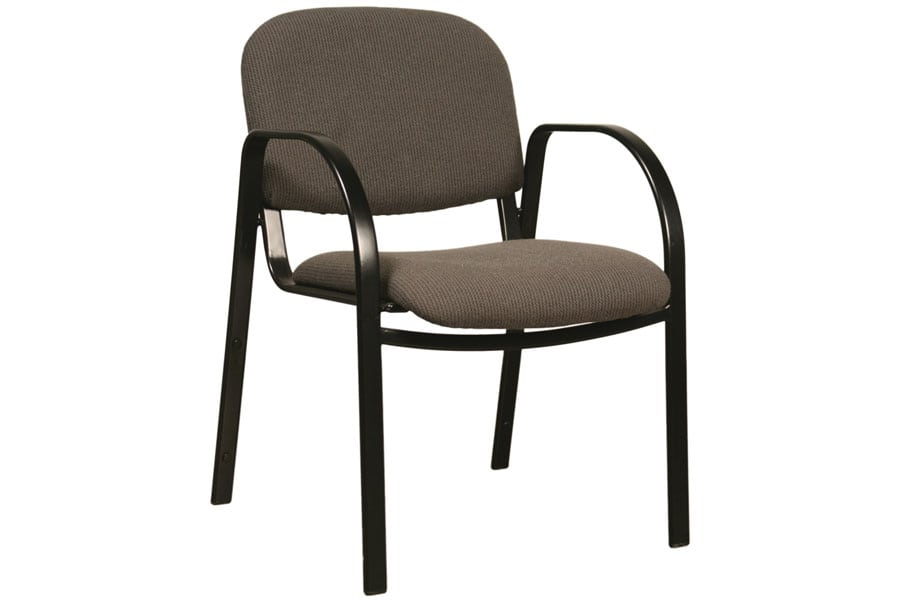 Metal Legged Chair with Arms Three Quarter View