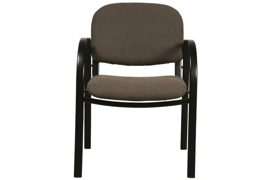 Metal Legged Chair with Arms Front View