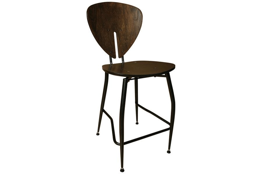 Espresso Teardrop Bar Stool